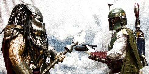 The Predator and Boba meet on Hoth